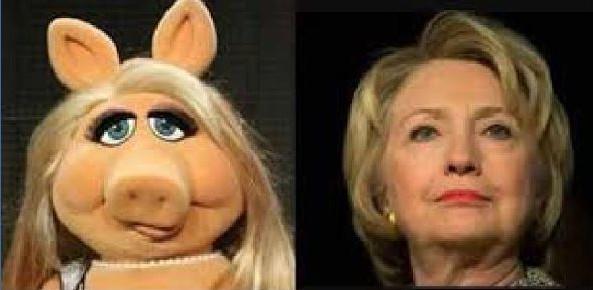 hillary & miss piggy