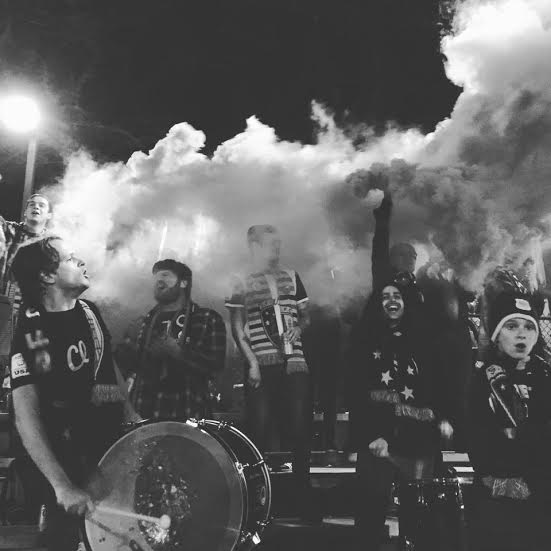 drums and smoke