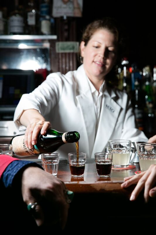 pouring fernet