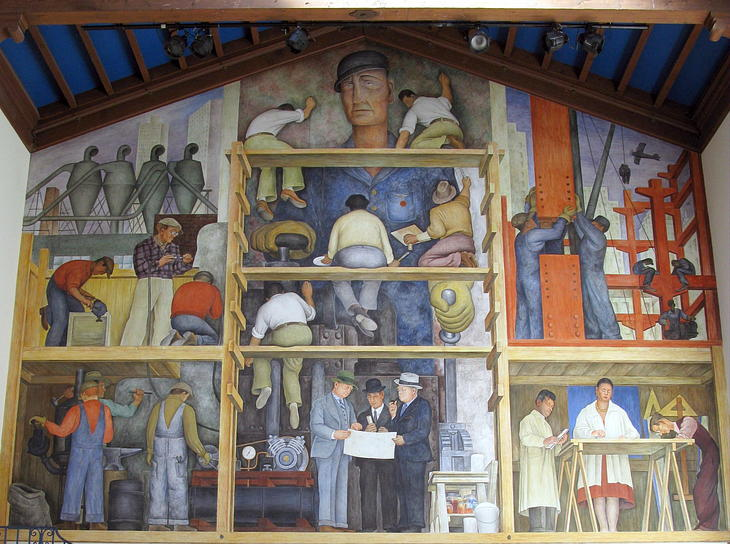 A map of san francisco 39 s street art murals by for Diego rivera mural san francisco art institute