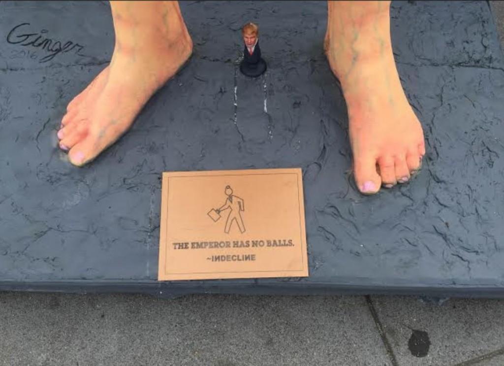 trump feet emperor