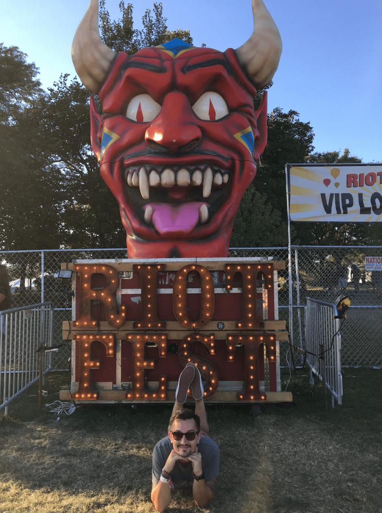 Riot Fest Sign