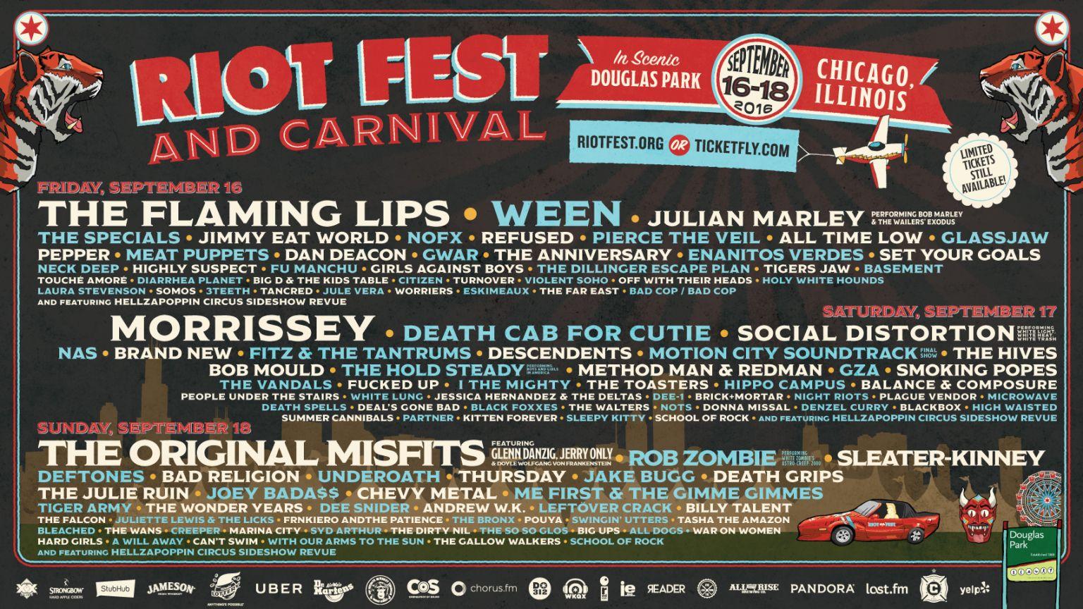 Riot Fest Lineup