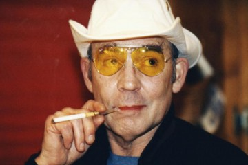 Hunter S. Thompson (1937 - 2005) American gonzo journalist and author, 14th April 1996. (Photo by Neale Haynes/Getty Images)