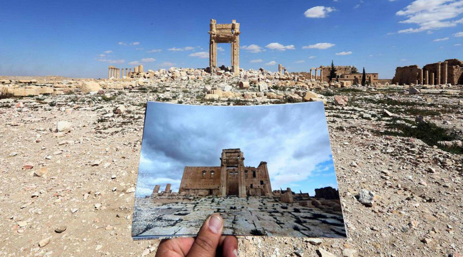 What remains of the historic Temple of Bel, dating back to 32AD. © Joseph Eid / AFP