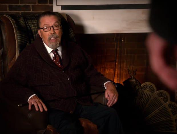 Rocky Horror icon Tim Curry as The Criminologist in the new version.