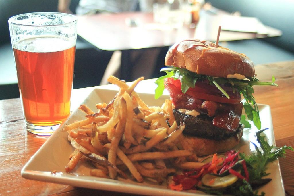 burger beer pairing