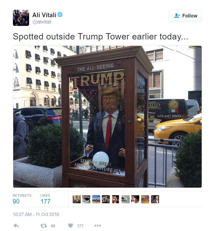 turmp in tower