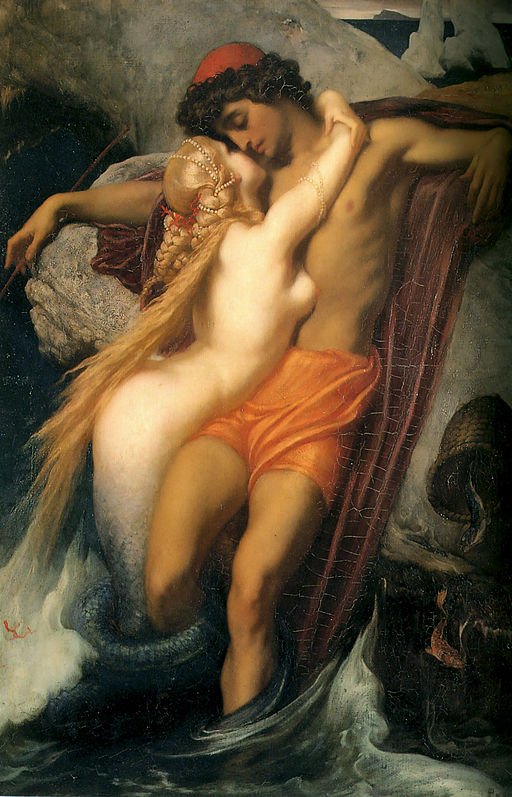 """The Fisherman And The Syren,"" Frederic Leighton"