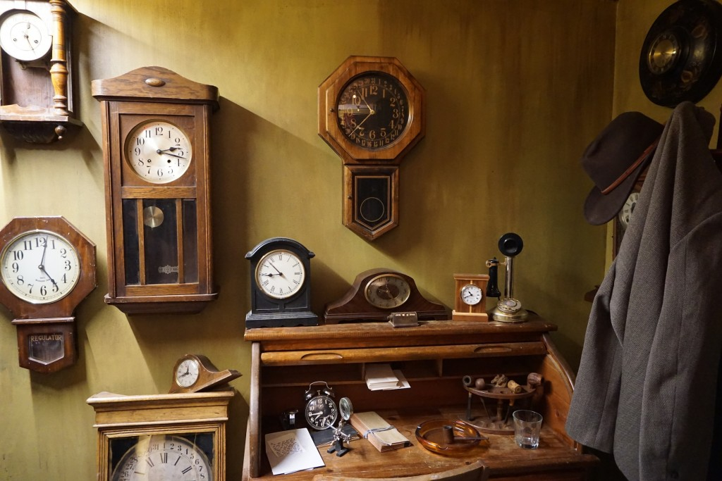 A counterfeit shop for clock repair. Photo by Sam Devine