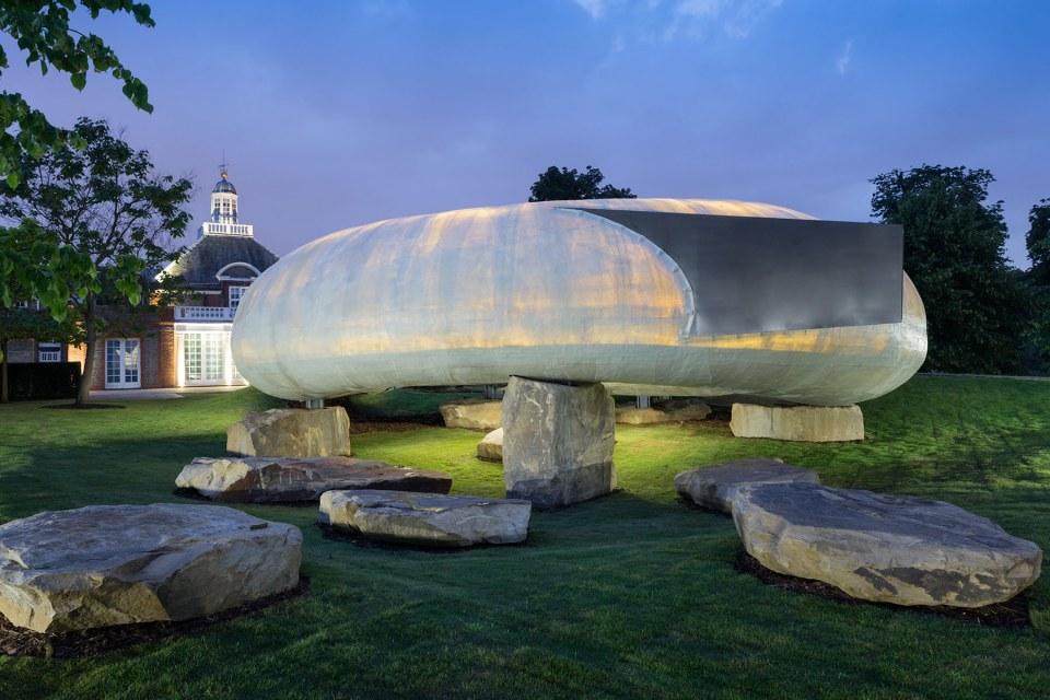 Serpentine Pavilion 2014 designed by Smiljan Radić