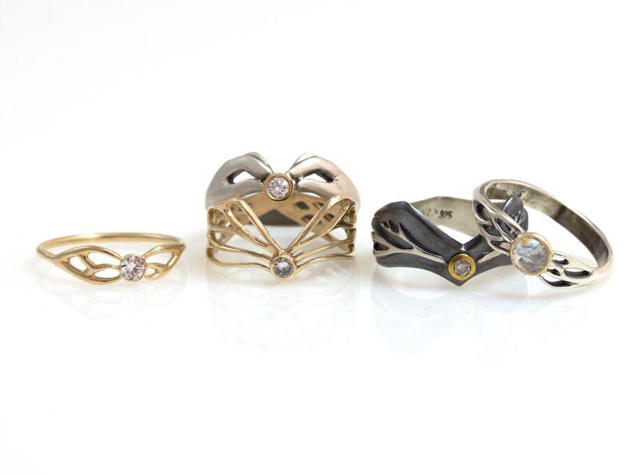 Luana Coonen's wedding rings, photo credit Luana Coonen