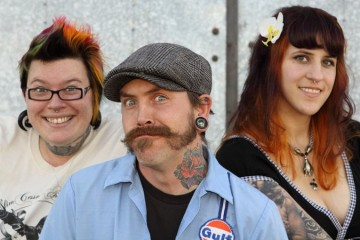 Aaaand here they are again. From left to right: Mez, Chris, and Deanna.
