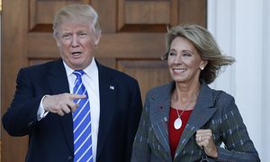 Betsy DeVos selected for Education