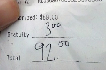 reciept bad tips