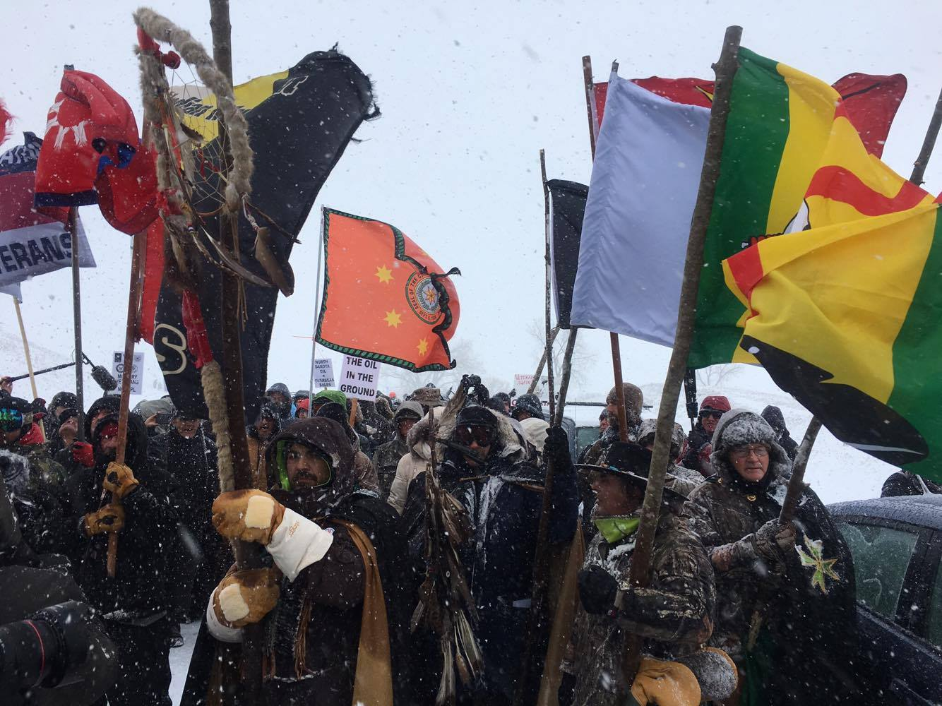 standing rock live protest