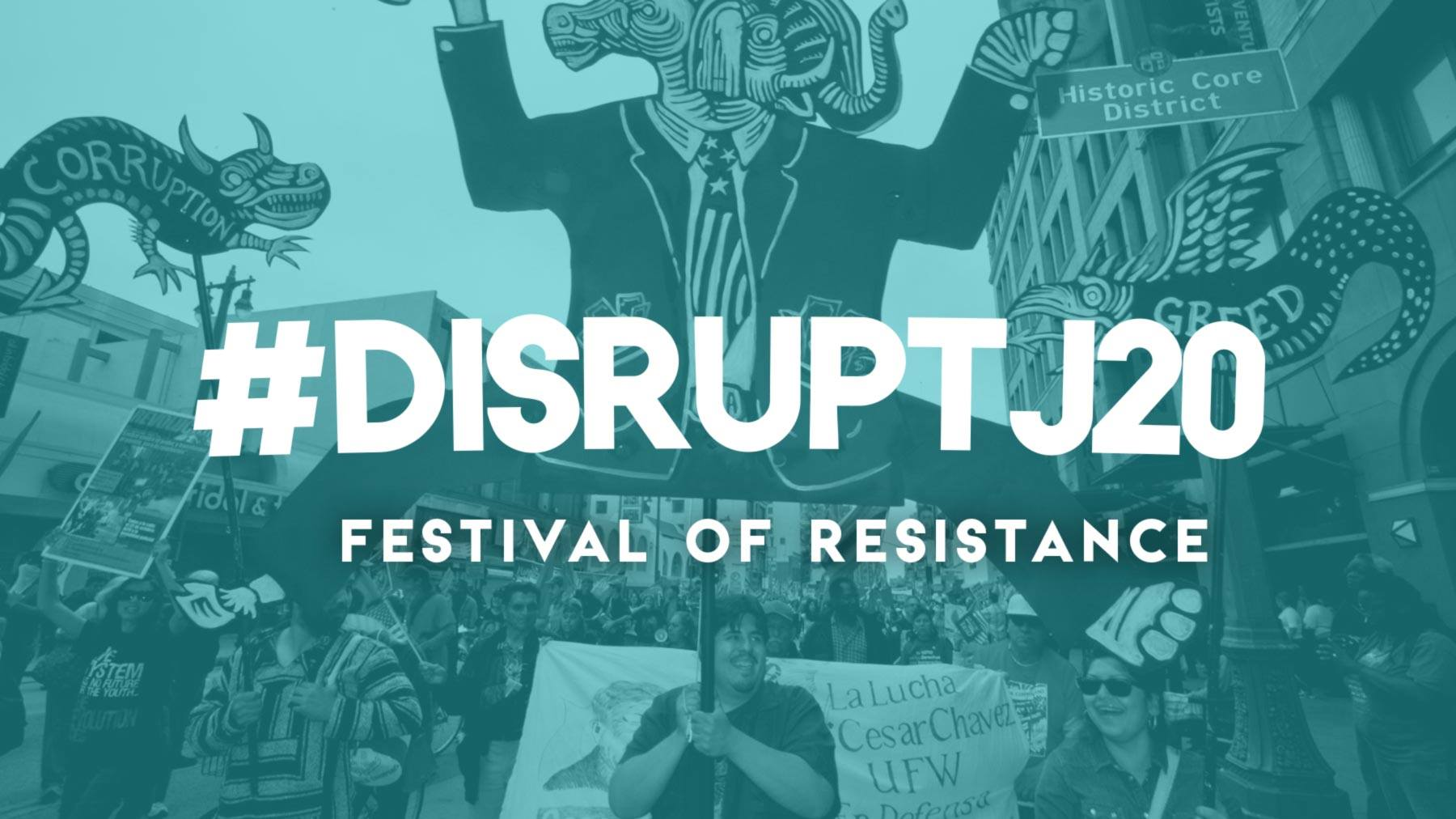 Disrupt the  Inauguration