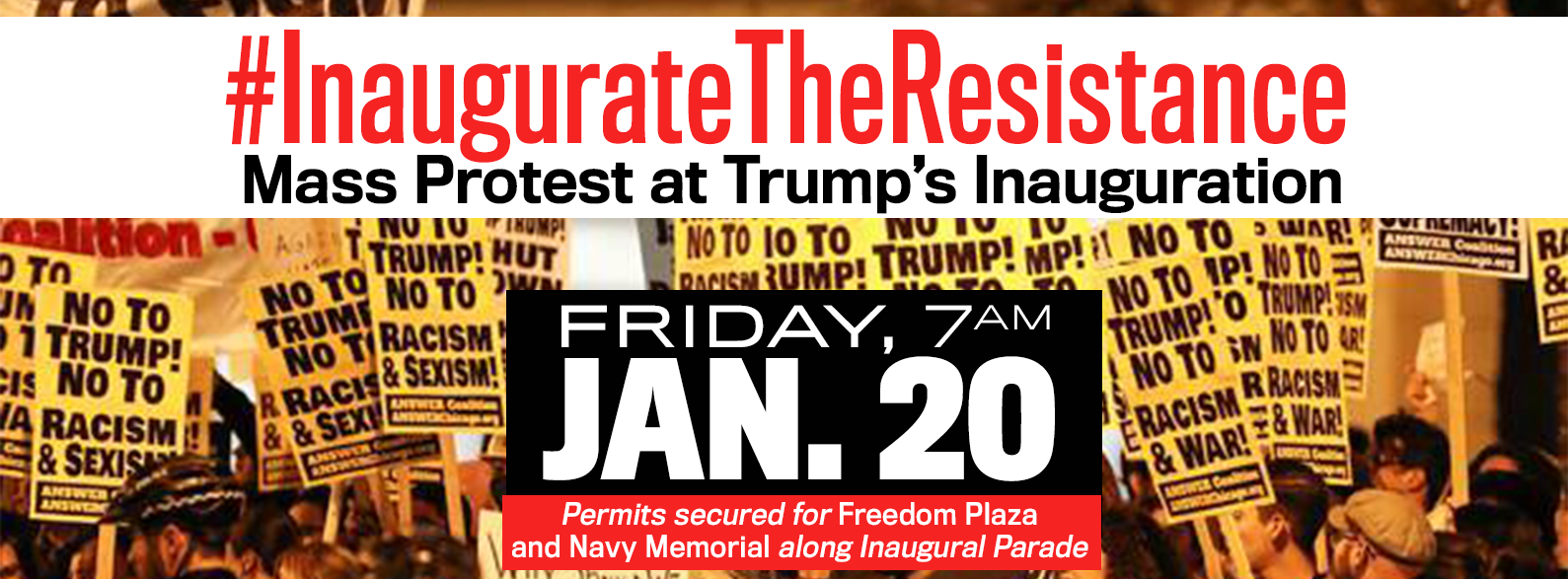 inauguration Rally Inaugurate the Resistance