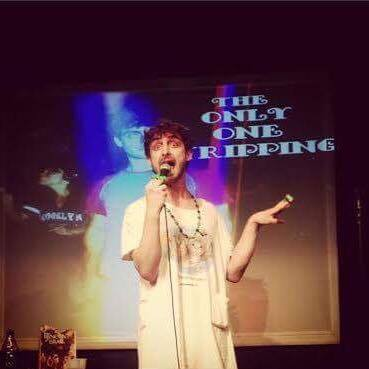 "Evan Jones performing at ""The Only One Tripping"" comedy show"