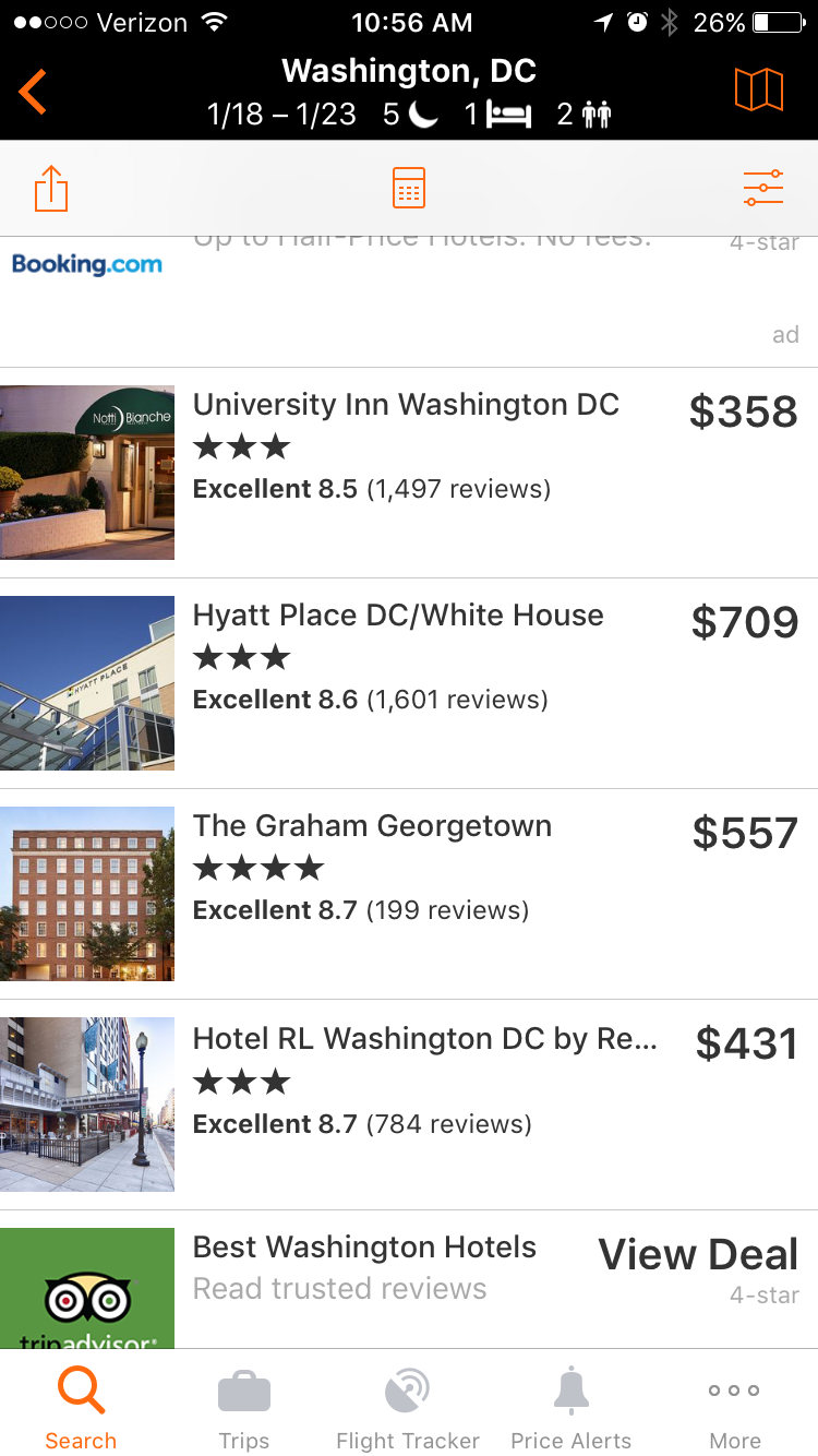 inauguration hotels
