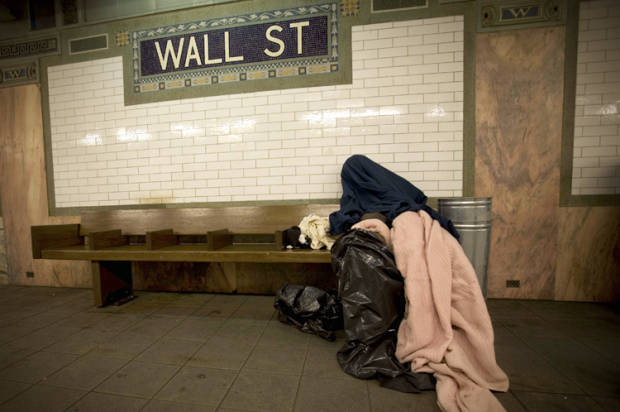 Homeless in NYC. Obtained from Salon.com