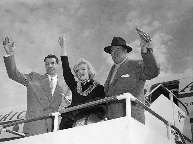 Marilyn Monroe, Joe DiMaggio & Lefty O'doul on vaction together