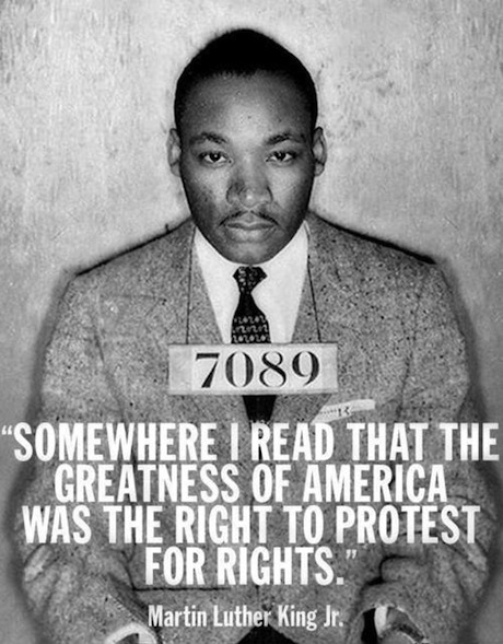 Martin Luther King Jr. Quote Protest