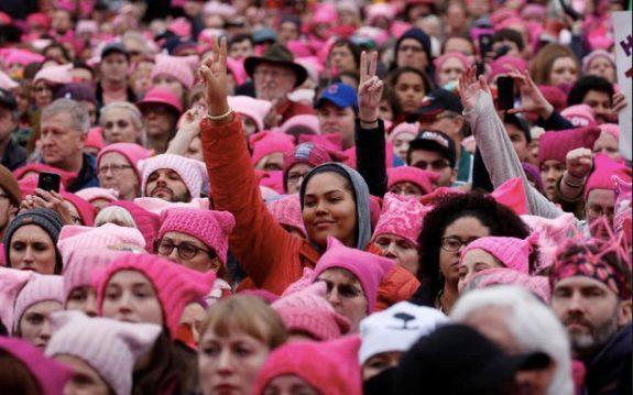 women-march-hats