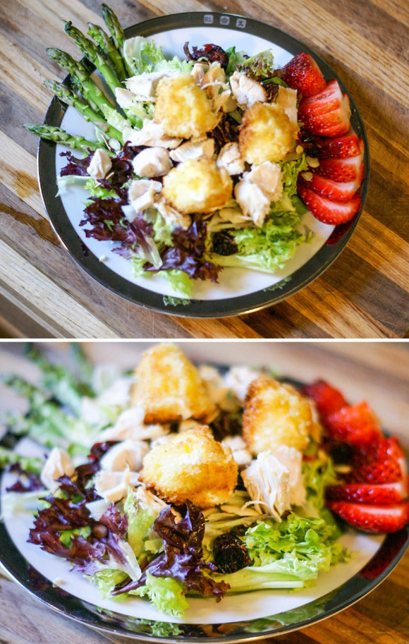 Fried Cheese Salad