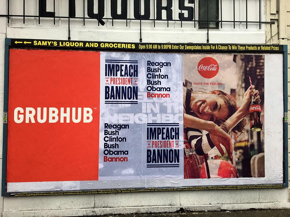 impeach bannon billboard
