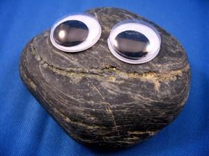 An actual rock.