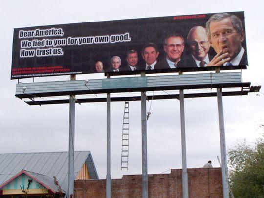 bush billboard
