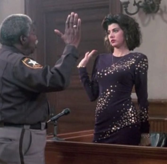 "Marisa Tomei in ""My Cousin Vinny"" - courtesy 20th century fox"
