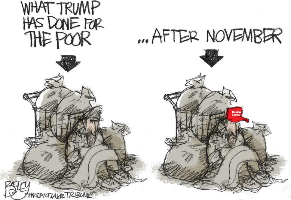 The Salt Lake Tribune Pat Bagley cartoon for Oct. 13, 2016.