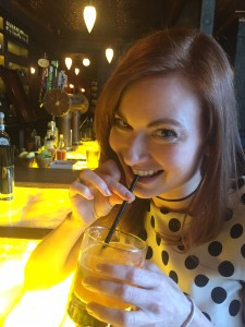 Your author getting her drank on.