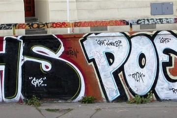 POET graffiti tag