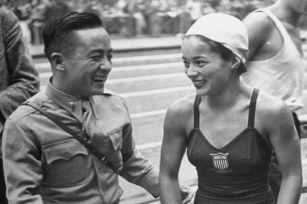 Sammy Lee and Vicki Draves