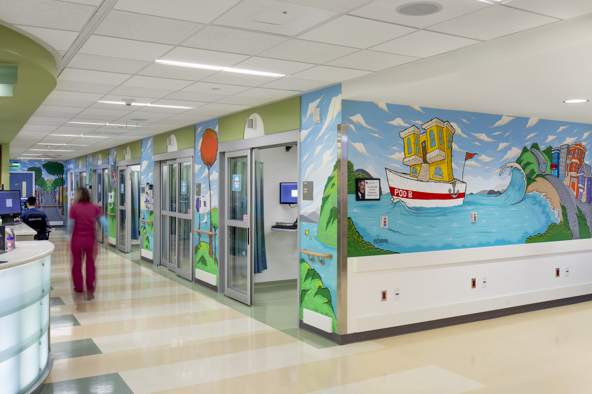 SF General Hospital Has New Sirron Murals