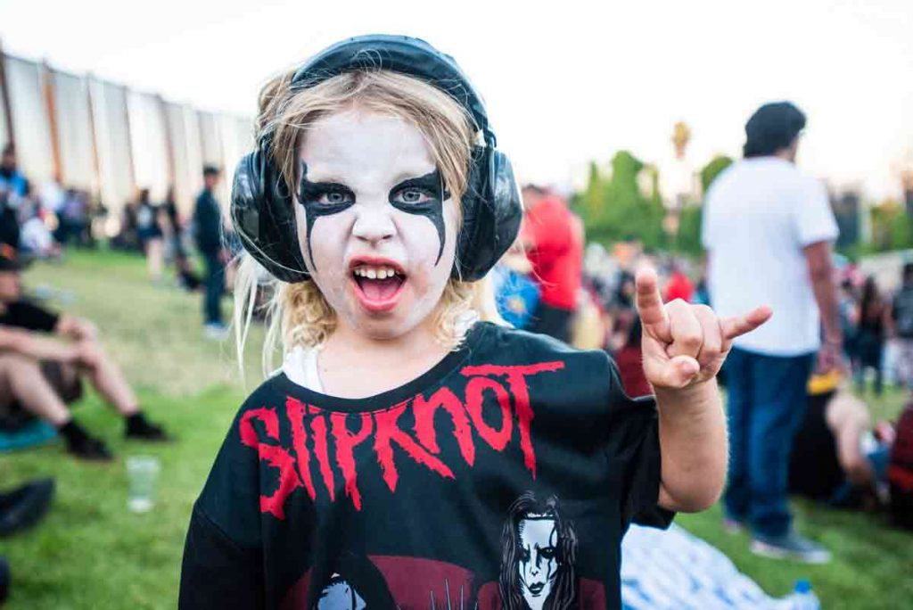 Slipknot fan at Shoreline