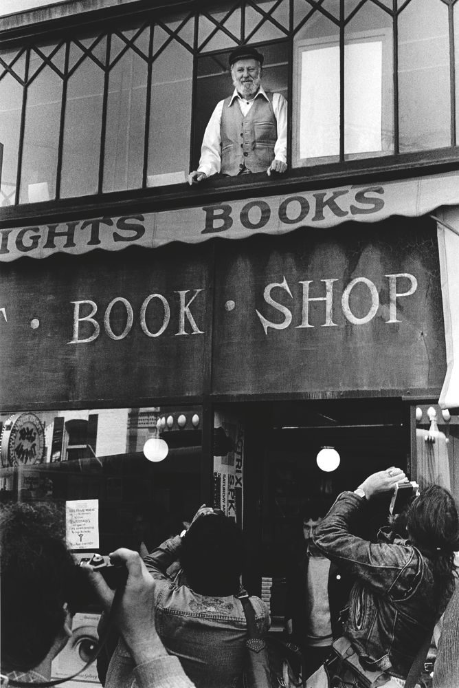 Lawrence Ferlinghetti, City Lights Book Shop, North Beach SF.