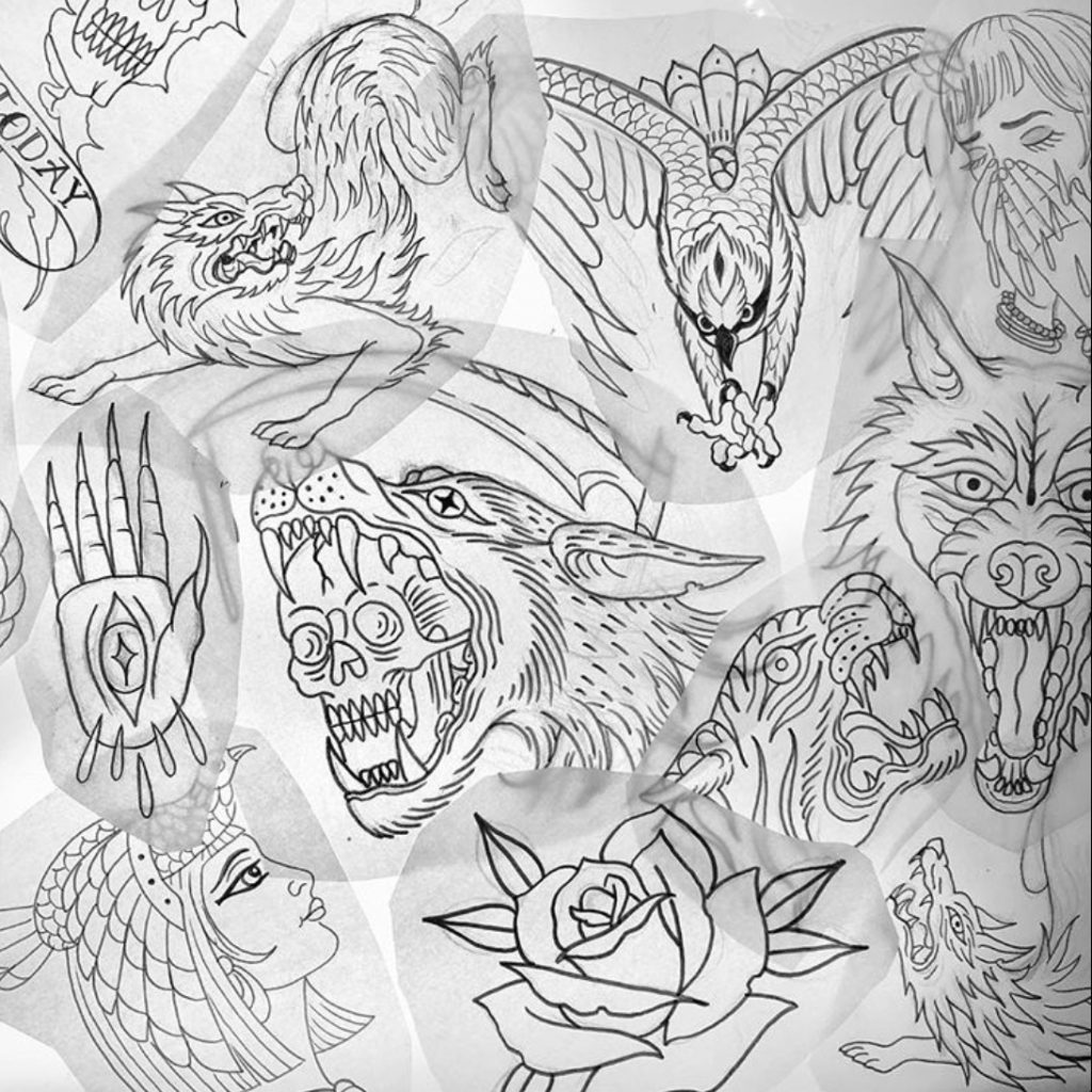 Tattoo stencils by Eric Jones